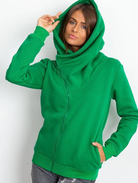 Zielona bluza z asymetrycznym zapięciem                              zdj.                              6