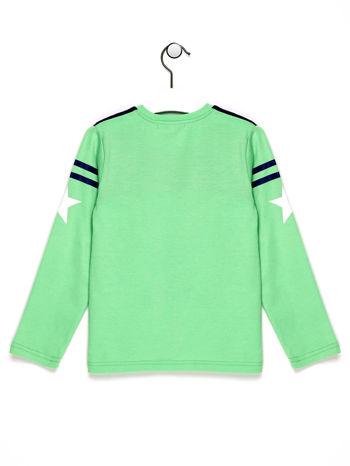 Zielona bluzka chłopięca z napisem MONKEY 03