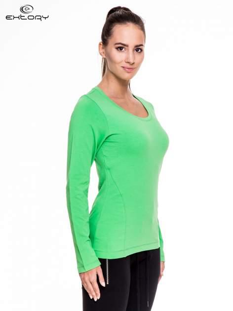 Zielona bluzka sportowa z dekoltem U                                  zdj.                                  3
