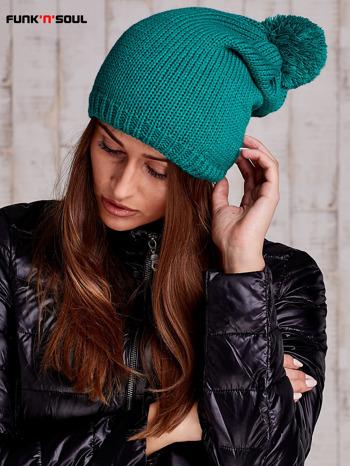 Zielona czapka z polarową wyściółką FUNK N SOUL                                  zdj.                                  2