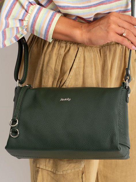 Zielona damska torebka skórzana                              zdj.                              2