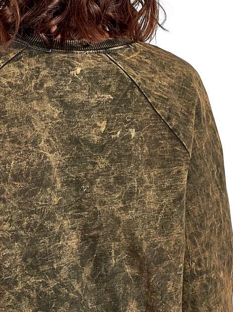 Zielona dektyzowana bluza z nadrukiem SOHO HARLEM LITTLE CHINA                                  zdj.                                  6