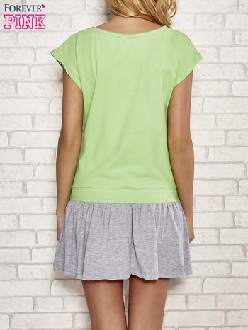 Zielona dresowa sukienka tenisowa z kieszonką                                  zdj.                                  2