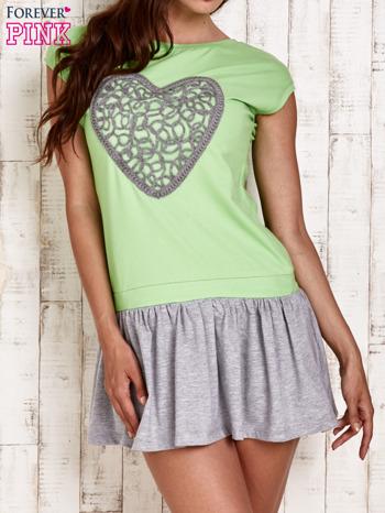 Zielona dresowa sukienka tenisowa z sercem                                  zdj.                                  1
