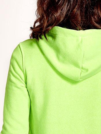 Zielona gładka bluza z kapturem                                  zdj.                                  7