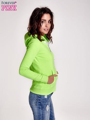 Zielona gładka bluza z kapturem                                  zdj.                                  3