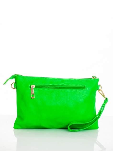 Zielona kopertówka z dżetami motyw apple                                  zdj.                                  2