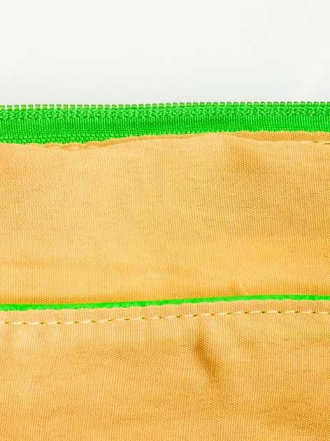 Zielona kopertówka z dżetami motyw apple                                  zdj.                                  7