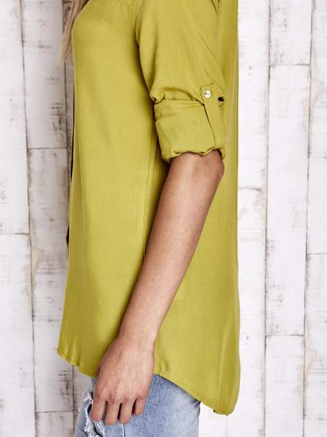 Zielona koszula z aplikacją gwiazd na ramionach                                  zdj.                                  7