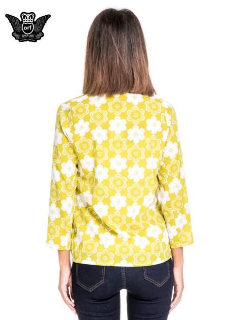 Zielona koszulonarzutka we wzór w kwiaty                                  zdj.                                  5