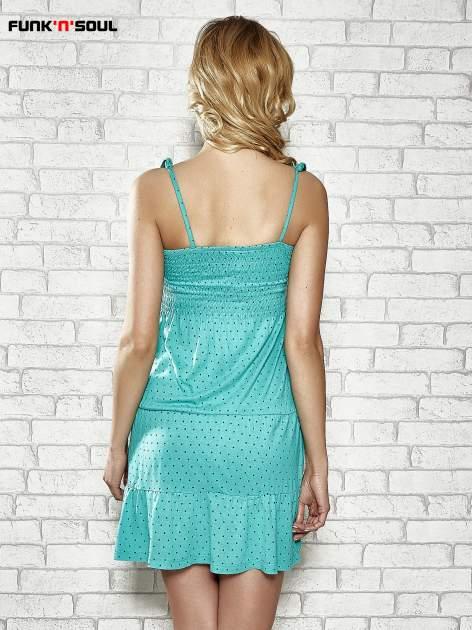 Zielona letnia sukienka w groszki Funk n Soul                                  zdj.                                  4