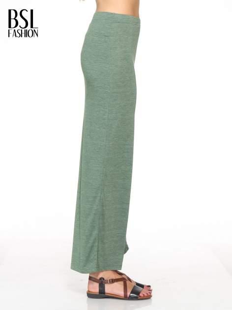 Zielona melanżowa spódnica maxi z rozcięciem                                  zdj.                                  2