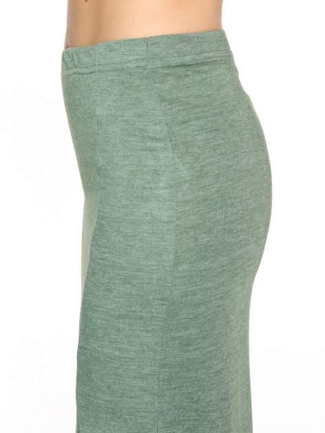 Zielona melanżowa spódnica maxi z rozcięciem                                  zdj.                                  5