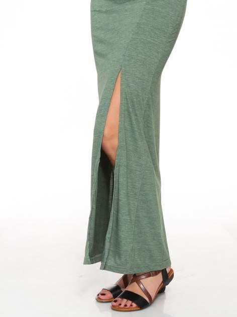 Zielona melanżowa spódnica maxi z rozcięciem                                  zdj.                                  6