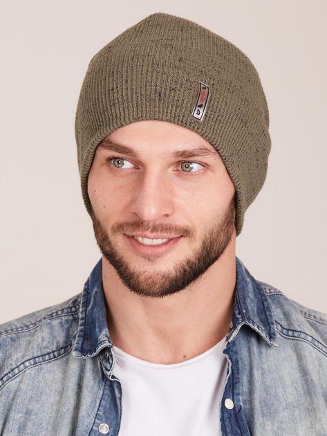 Zielona męska czapka beanie                              zdj.                              1