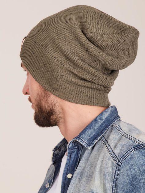 Zielona męska czapka beanie                              zdj.                              3