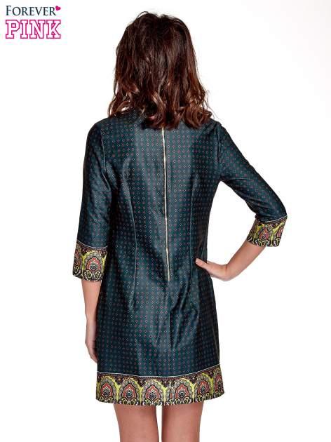 Zielona sukienka w indyjskim stylu                                   zdj.                                  4