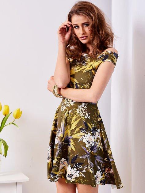 Zielona sukienka w łączkę                              zdj.                              5