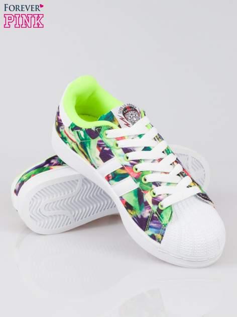 Zielone adidasy z motywem kwiatowym                                  zdj.                                  4