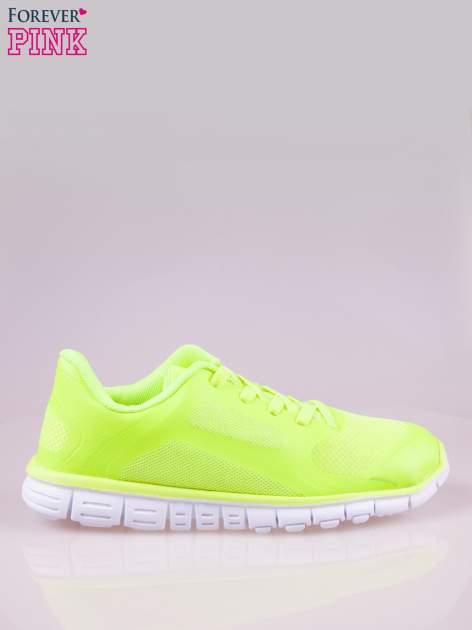 Zielone buty sportowe damskie z podeszwą z rowkami flex