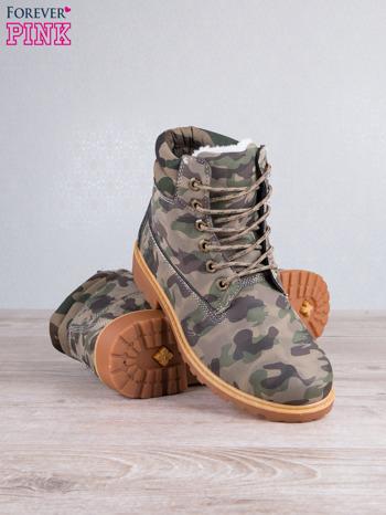 Zielone buty trekkingowe damskie traperki ocieplane                                  zdj.                                  3