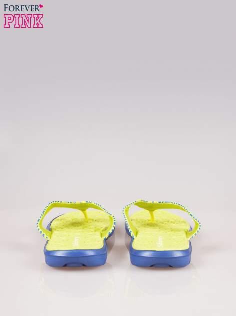 Zielone gumowe japonki z wzorem                                  zdj.                                  3