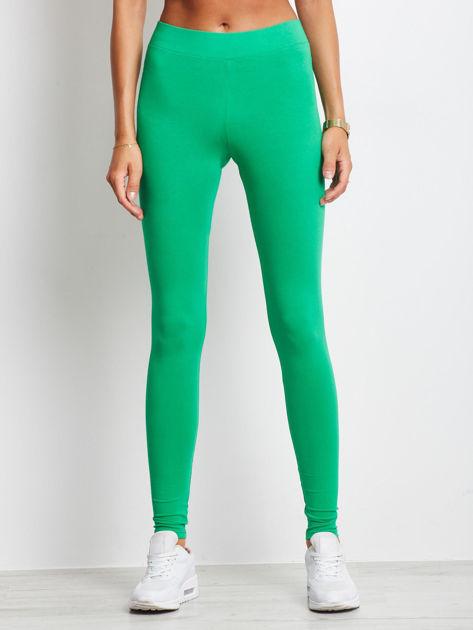 Zielone legginsy Basic                              zdj.                              1