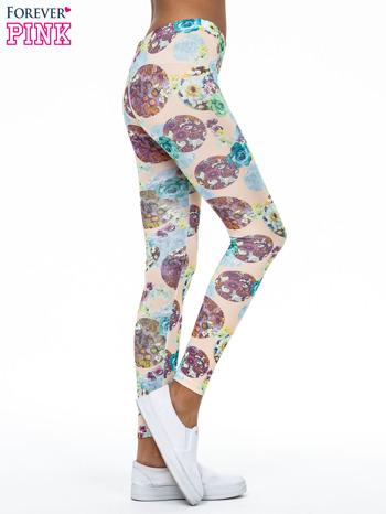 Zielone legginsy z kwiatowymi motywami                                  zdj.                                  3
