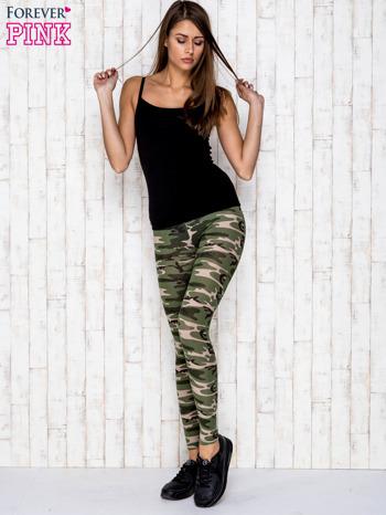 Zielone legginsy z motywem militarnym                                  zdj.                                  2