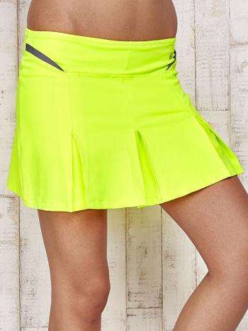 Zielone spodenki spódniczka tenisowa z szarymi wstawkami                                  zdj.                                  4