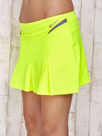 Zielone spodenki spódniczka tenisowa z szarymi wstawkami                                  zdj.                                  6
