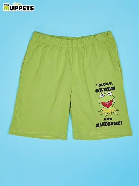 Zielone szorty chłopięce MUPPETY