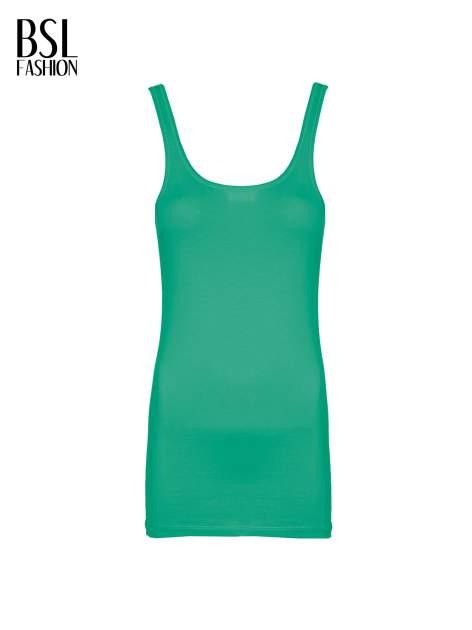 Zielony gładki top na szerokich ramiączkach                                  zdj.                                  2