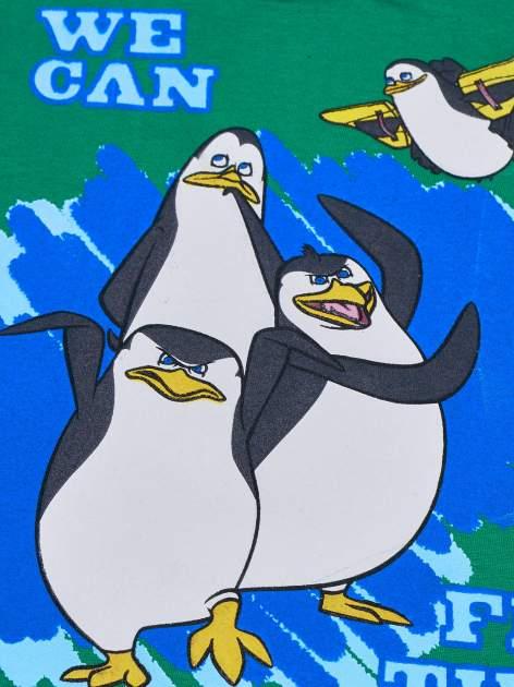 Zielony t-shirt chłopięcy PINGWINY Z MADAGASKARU                                  zdj.                                  4