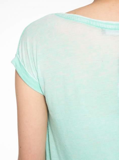 Zielony t-shirt z kotem i napisem TOKYO CITY                                  zdj.                                  9