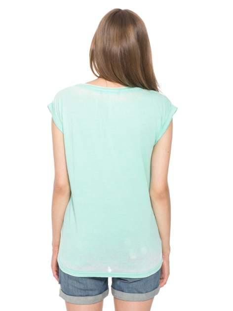 Zielony t-shirt z napisem FOREVER i nadrukiem tygrysa                                  zdj.                                  11