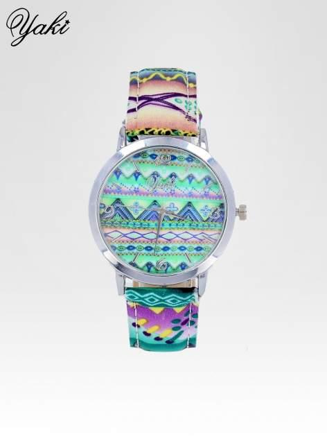 Zielony zegarek damski z motywem azteckim                                  zdj.                                  1