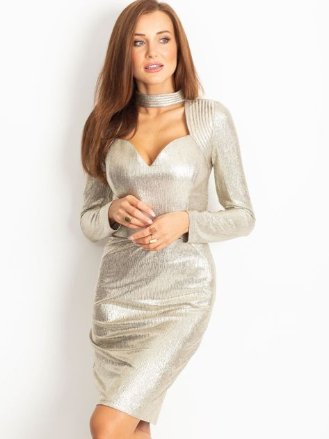 Złota sukienka Sparkle                              zdj.                              1