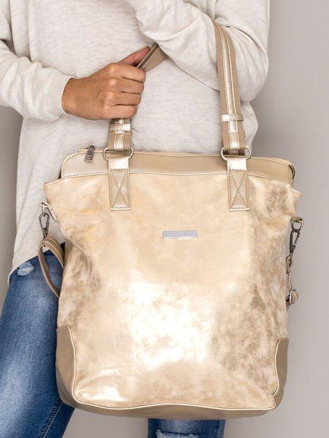 Złota torba z błyszczącym modułem                                  zdj.                                  1