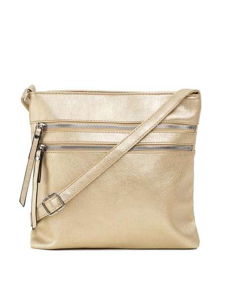 Złota torebka z kieszeniami