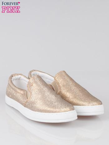 Złote buty sliponki glitter                                  zdj.                                  2