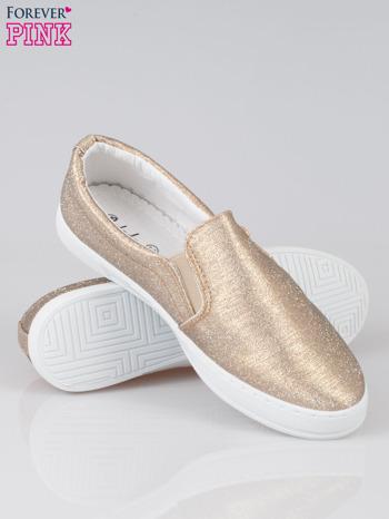 Złote buty sliponki glitter                                  zdj.                                  4