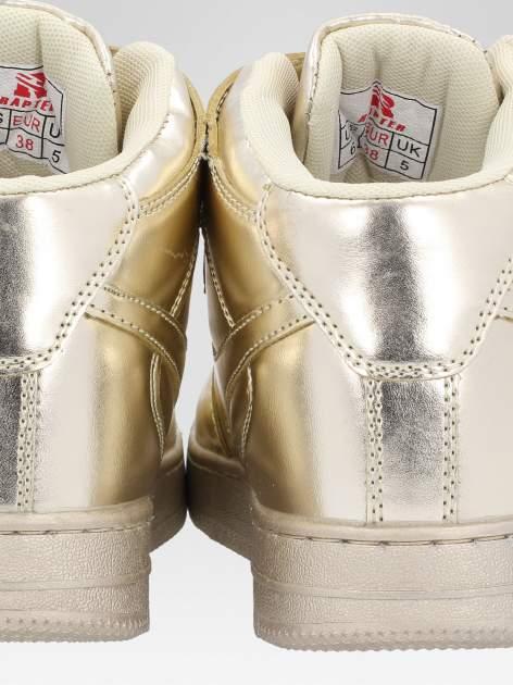 Złote buty sportowe Heather za kostkę na grubej podeszwie                                  zdj.                                  5