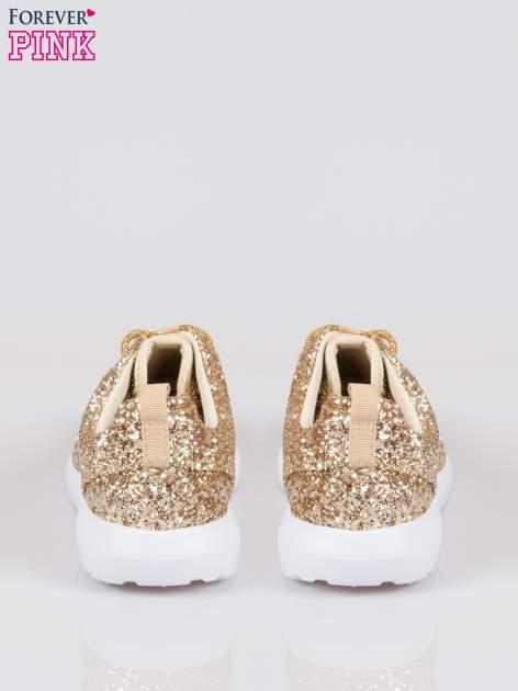 Złote buty sportowe textile Crummy z brokatowym efektem                                  zdj.                                  3