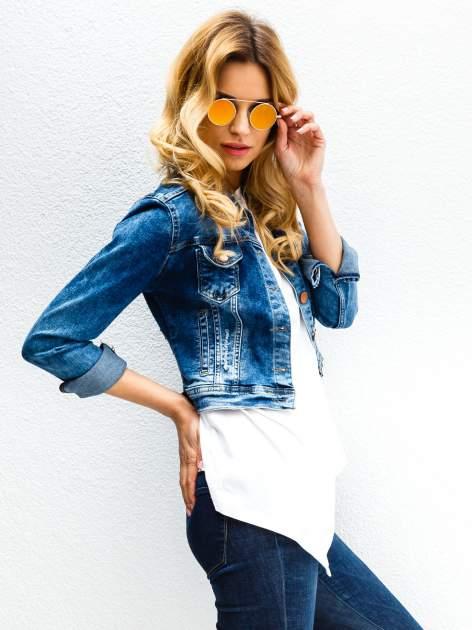 Złote okulary przeciwsłoneczne LENONKI lustrzanka                                  zdj.                                  1