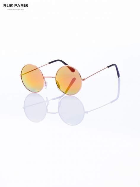 Złote okulary przeciwsłoneczne LENONKI lustrzanki                                  zdj.                                  4