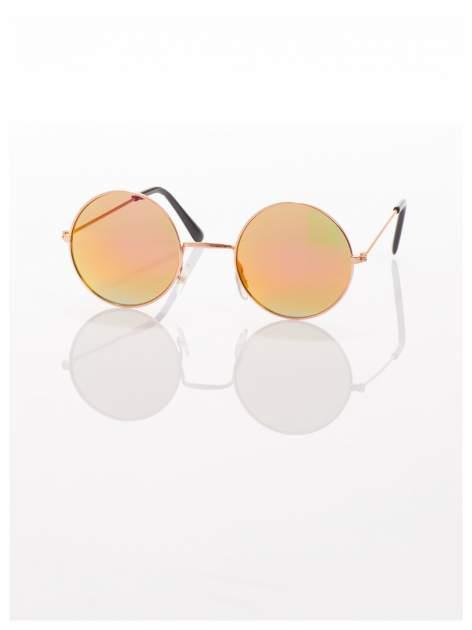 Złote okulary przeciwsłoneczne LENONKI lustrzanki                                  zdj.                                  5