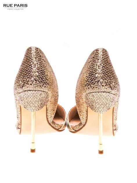 Złote szpilki glitter na metalowej szpilce                                  zdj.                                  3