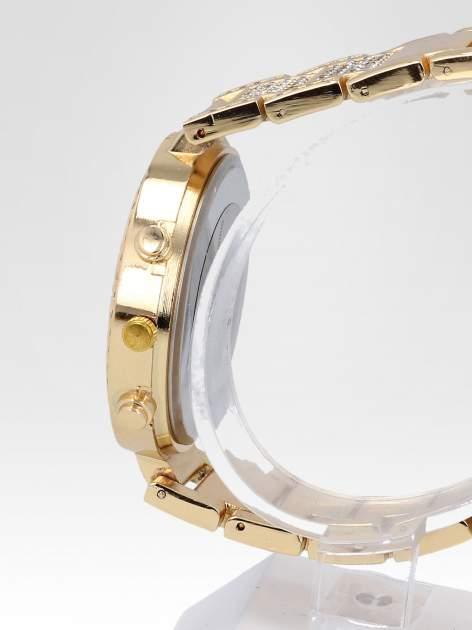 Złoty zegarek damski na cyrkoniowej bransolecie                                  zdj.                                  3