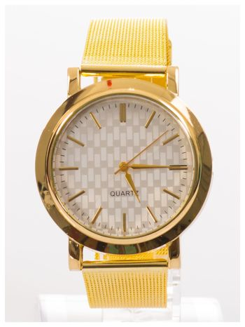 Złoty zegarek damski na metalowej bransolecie